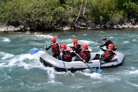 groupe rafting